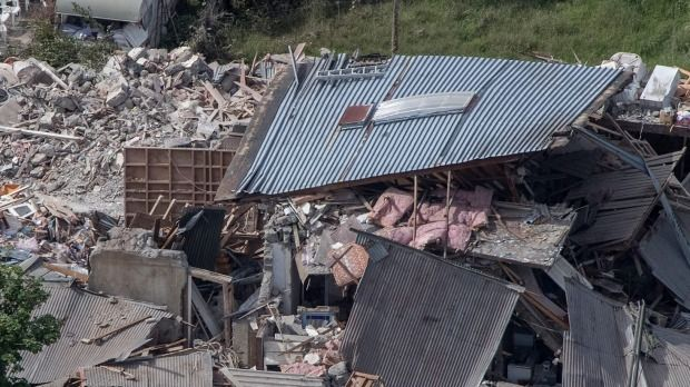 There's utter devastation in Kaikoura following the major earthquake in Canterbury.