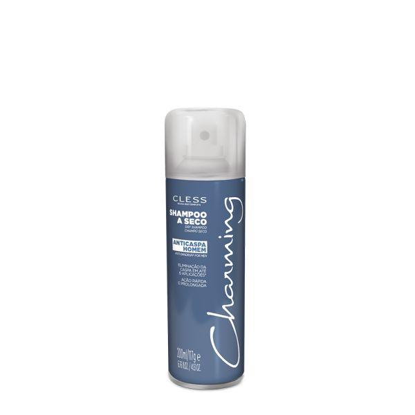 Vencedor dos Prêmios Atualidade Cosmética 2015 e Abihpec 2015, o Shampoo a Seco Anticaspa Charming é o tratamento mais eficaz para o controle da caspa, nas versões feminina e masculina. Testes realizados em laboratórios concluíram uma eficácia maior que qualquer outro tipo de tratamento anticaspa, pois por se tratar de Shampoo a Seco, permanece em ação no couro cabeludo até a próxima lavagem.  Tamanho disponível: 200ml/117g