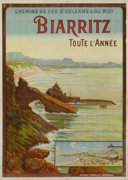 Biarritz ~ Aquitaine _____________________________ Chemins de fer d'Orléans et du Midi