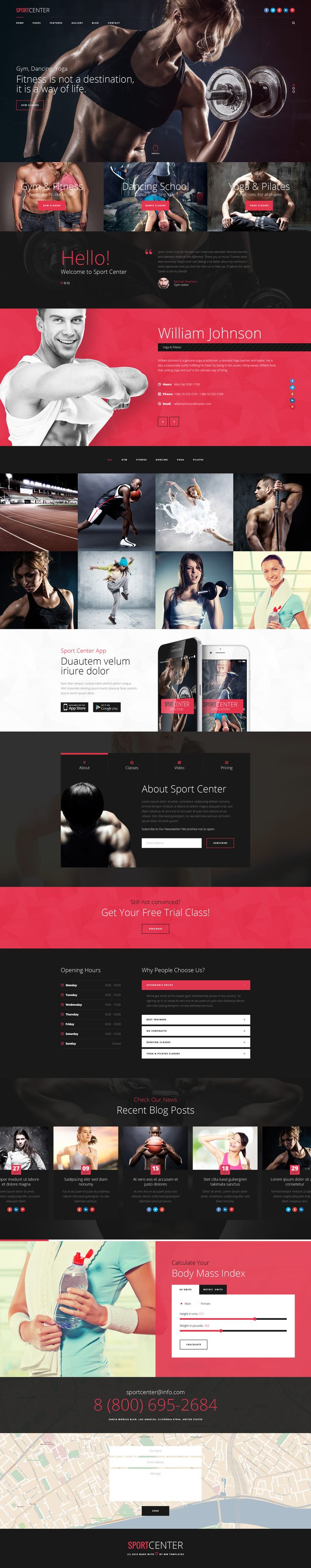 Sport Center is modern, clean and professionally crafted PSD template which can be used for gym, fitness, yoga, dancing and other sport clubs. It also can be used for any other site. This PSD Templ...