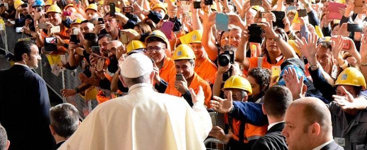 """Il Papa all'Ilva: """"Il buon imprenditore è prima di tutto un lavoratore, non è uno speculatore"""""""