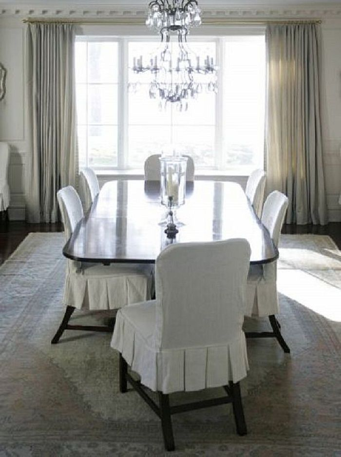 13 Best Images About Elegant Dining Chair Slipcover On