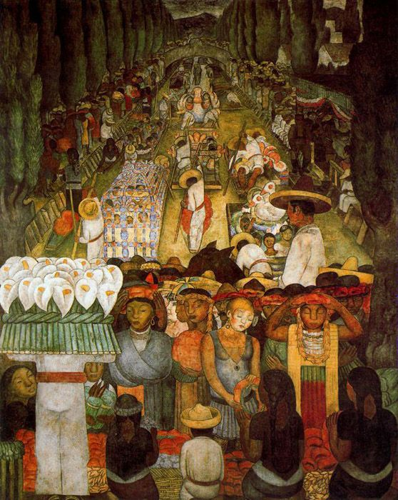17 best images about diego rivera on pinterest mexico for Diego rivera day of the dead mural