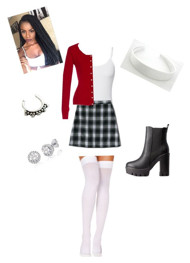 """Dionne clueless Halloween costume ❤️"" by dunbarstilinski143 on Polyvore featuring Splendid, Lands' End, Charlotte Russe and Zoya"