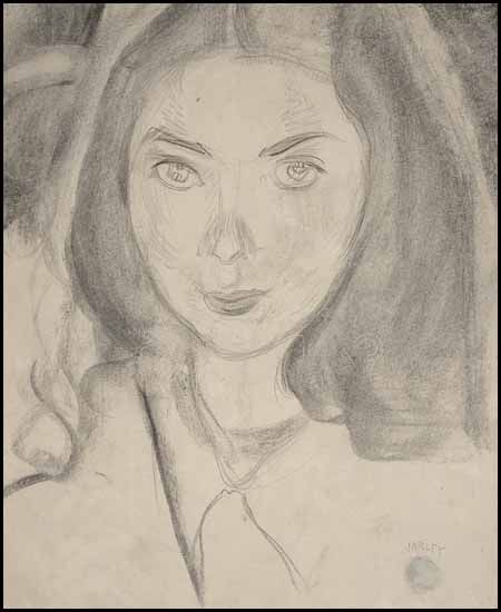 """""""Portrait of Vera,"""" Frederick Horsman Varley, ca. 1930, graphite on paper, 11 x 8 1/2"""", private collection."""