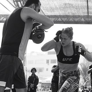 @rondarousey, we can't wait for your match tonight at #UFC193. You and @_hollyholm better give it your all (we'll be watching ) #regram from #RondaRousey; : @ewillphoto'