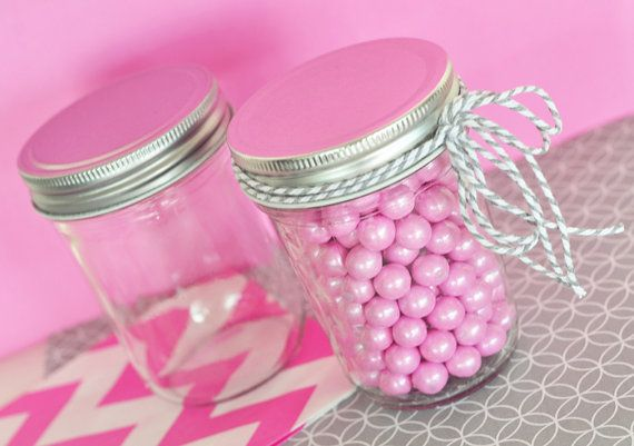 Mini Mason Jar Wedding Favors  Half Pint Mason Jars  by ModParty, $19.00