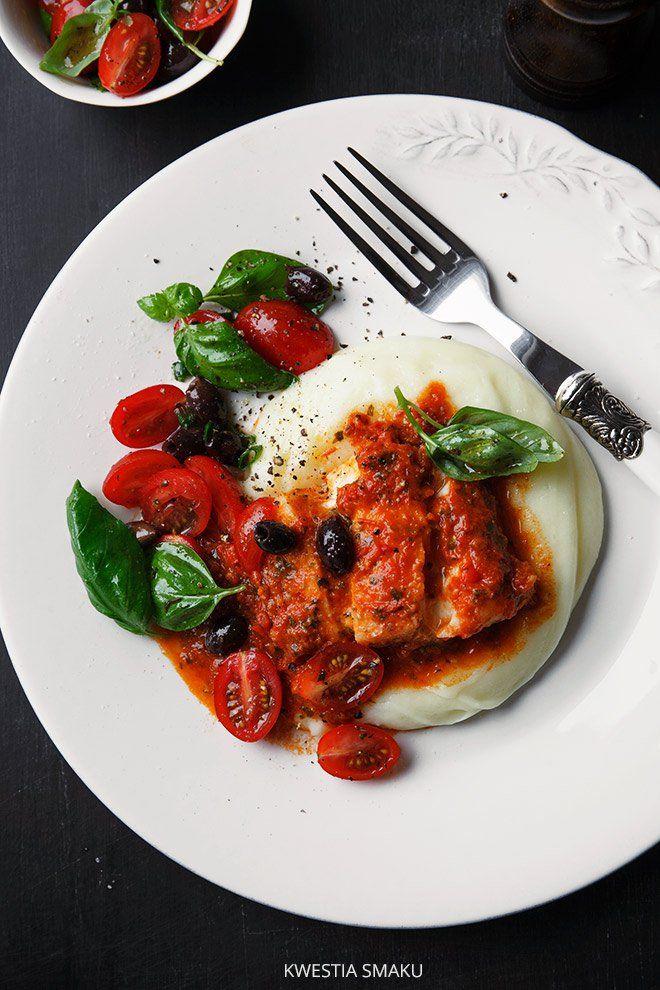 Filety z dorsza z pomidorowym pesto
