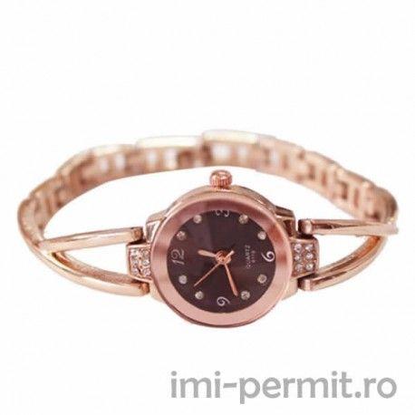 Ceas stilat pentru doamne, poate fi purtat in orice situatie