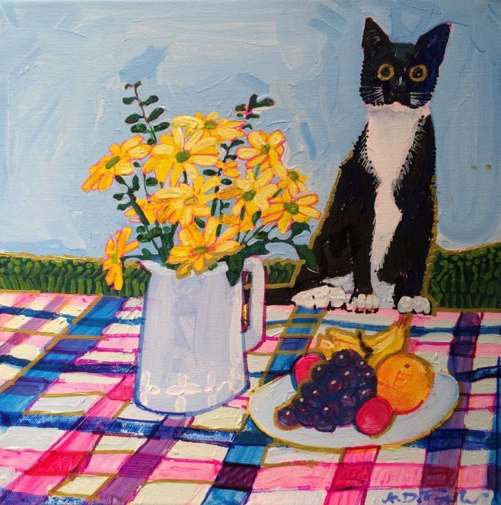 ARTFINDER: The Cat and the Picnic by Anthony Fowler - Another lyrical journey into the world of fantasy. With my feet firmly attached to the clouds , I occasionally produce one of these. I could just be an abstr...