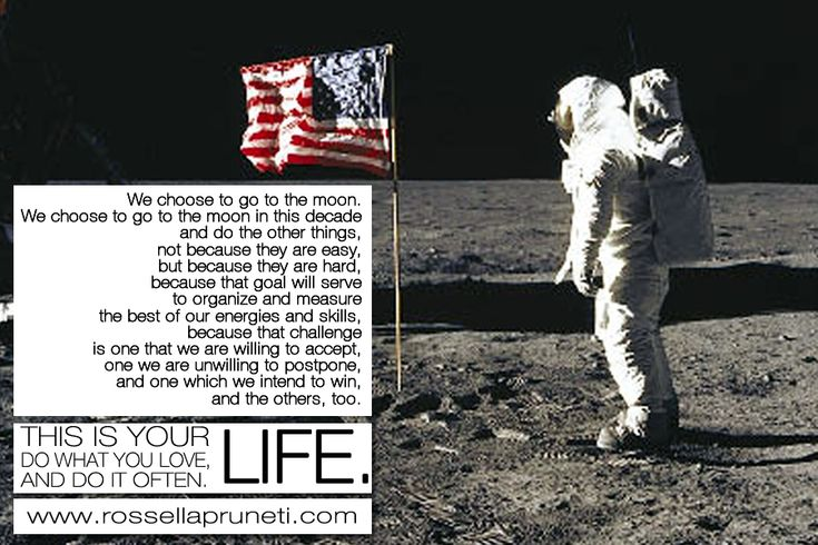 Volere la luna. Motivazione per lo Spazio e lo spazio personale.