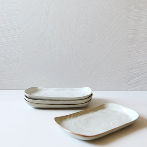 Casual line Oatmeal Rectanguler Plate 26, set of 4 / $74.00