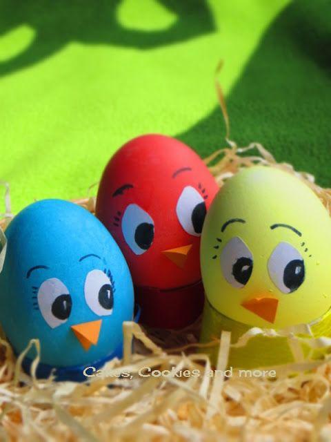 Anleitung für Osterküchen aus Eiern - Eier mit Lebensmittelpastenfarbe färben