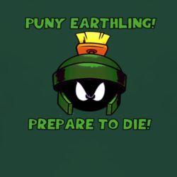 Marvin the Martian Prepare to Die T Shirt green  www.damncoolteez.com
