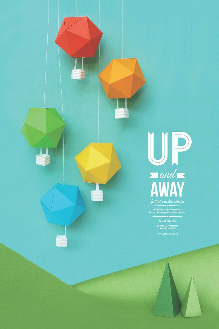 up and away on Behance