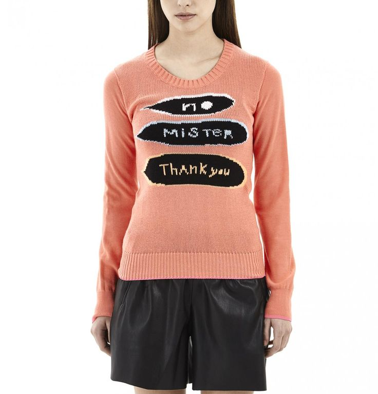 Coral No Mister Sweater