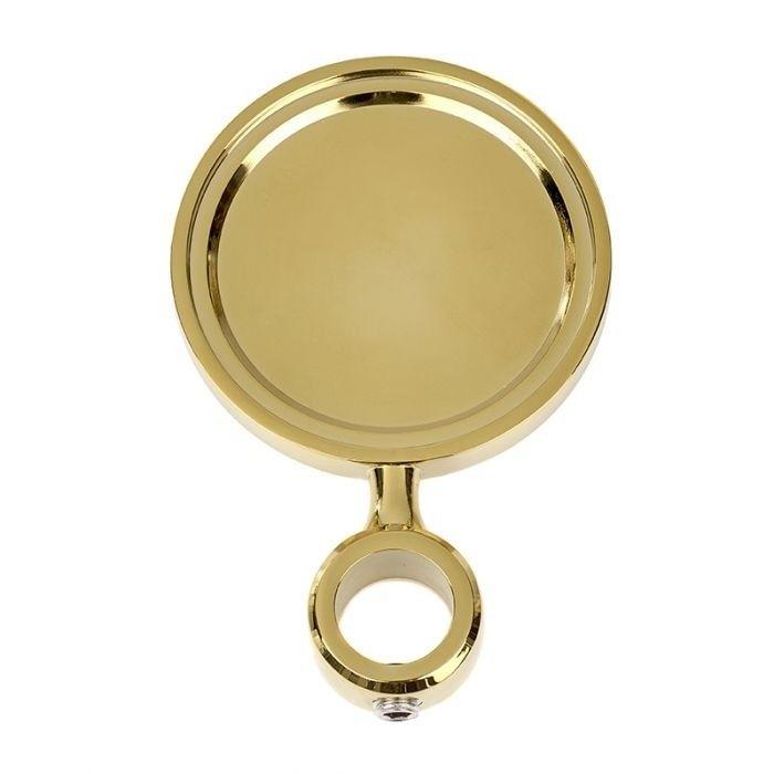 Round Celli Badge Holder - Gold Finish £14.50 #beerfont #fontbadgeholder #beerfontbadgeholder