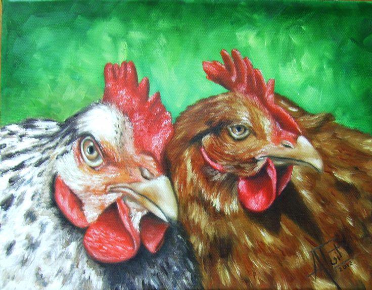 chicks 25cm x 20cm Oil on canvas