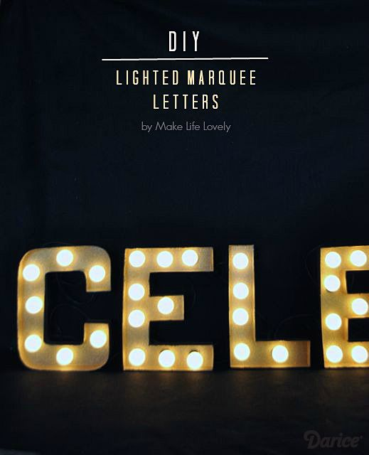 marquee letter tutorial make your own lighted marquee display