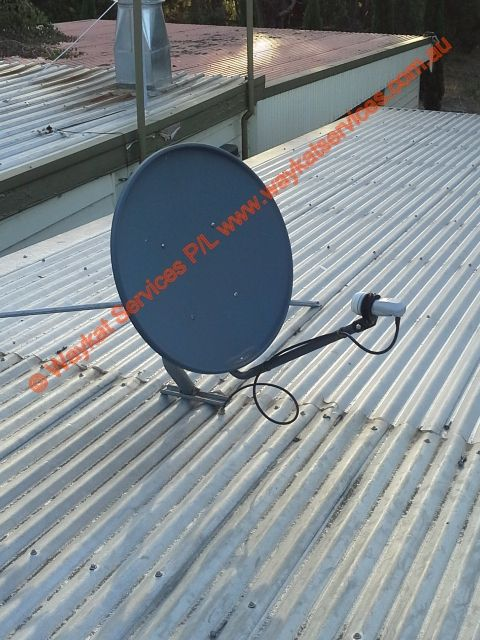 Another part of the entire telecommunications and network infrastructure is this 1m Foxtel dish