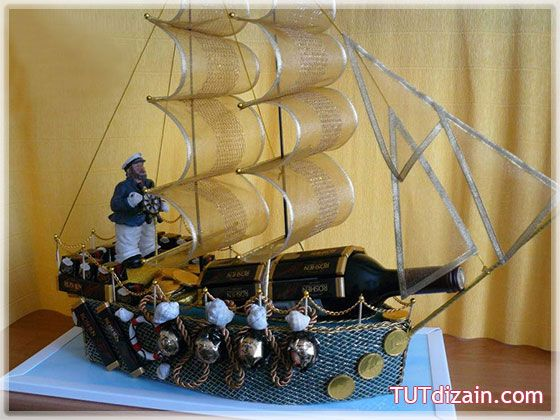 Подарочный корабль своими руками » Планета рукоделия