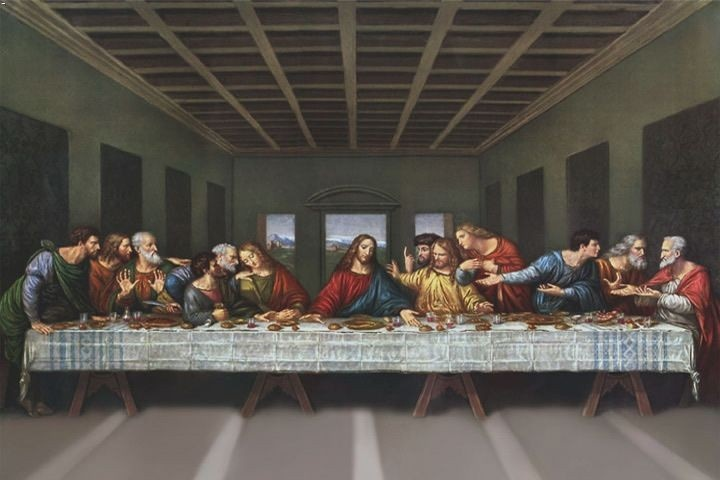 "Leonardo Da Vinci - ""The Last Supper""  In Milan, the Sforza's commissioned such works as Leonardo's Last Supper."