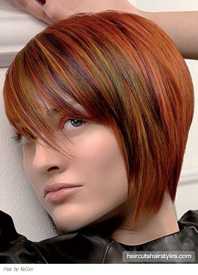 short & colorful hair