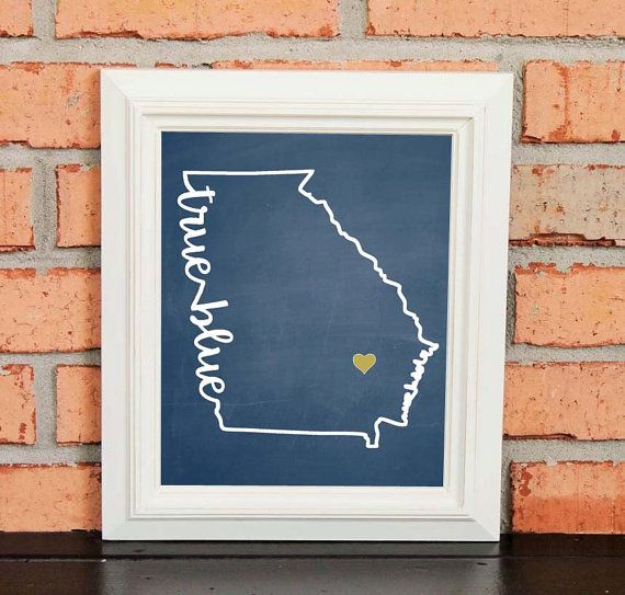 College Pride  Georgia Southern Artwork  by LibertyAndLilacPaper