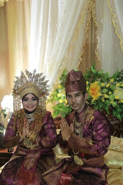 Our tradisional look as the indonesian wedding. This is what we wear when we being a bride n groom