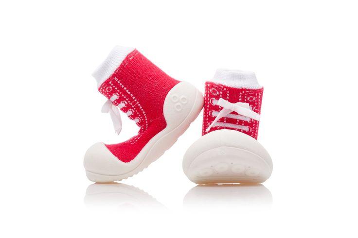 Elastyczne i wygodne buciki - skarpety Attipas Sneakers Red