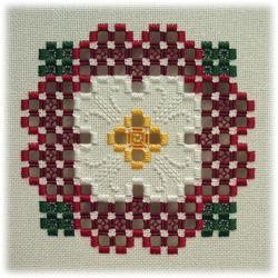 Tudor - an original Hardanger design inspired by the Tudor rose