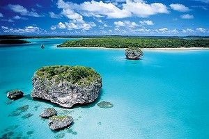 Hedonistic allure ... New Caledonia's whtie beaches and azure water.