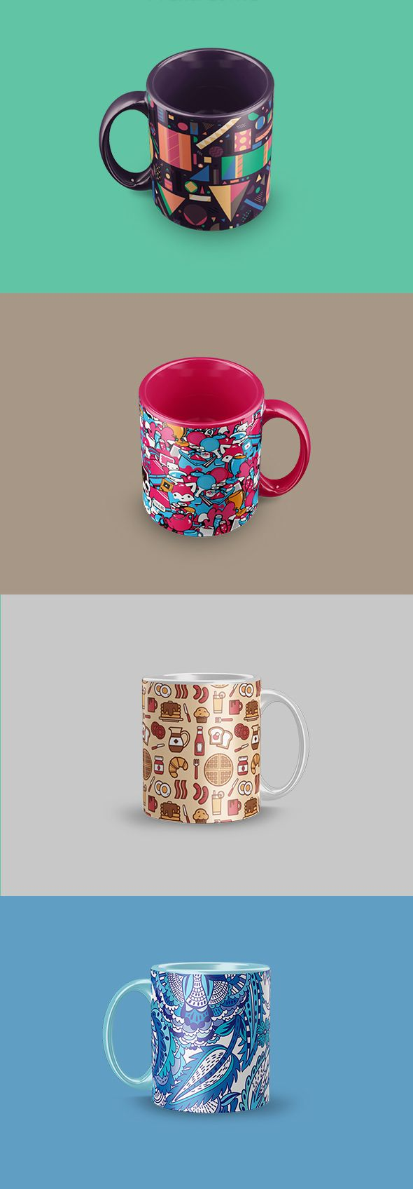 Free Mug Mockup (11 MB) | By Blatom Design on Behance | #free #photoshop #mockup