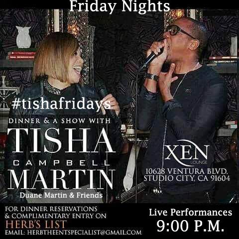 """TONIGHT! Herb """"The Entertainment Specialist"""" Christmas Party inside Tisha Campbell-Martin, Duane Martin & Friends #tishafriday! Live performances, live band, comedy, dinner, drinks and more. Friday Dec 22nd at Xen Lounge 10628 Ventura Blvd in Studio City #TishaFridays 9pm COMPLIMENTARY VIP entry 