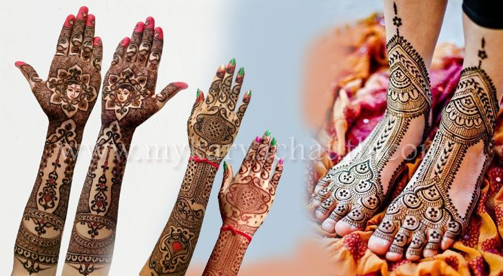 Stunning Karwa Chauth Mahendi Designs Images which Suits Hands and Feet @ http://bit.ly/2cfQXZ8  #mehndi #designs #karva #chauth #galleries #pictures #Latest