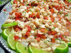 Ceviche mexicain (cocktail de poissons marinés au citron)