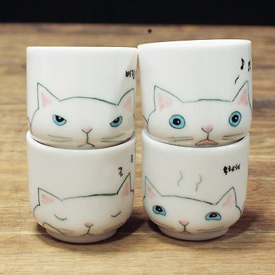 Kitty cups. #cat #cup