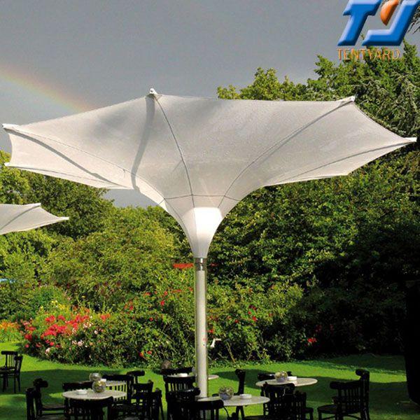 Large Outdoor White Flower Garden Umbrella, large garden umbrellas, large outdoor umbrellas, large umbrella from http://www.tentyard.com