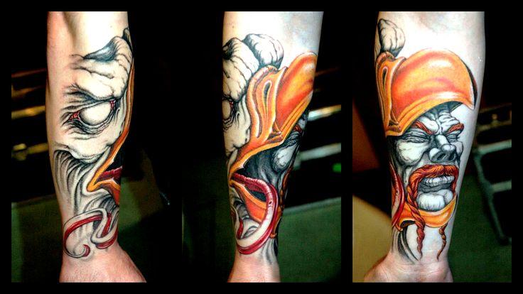 Tattoo by Piotr Wojciechowski, D3XS, Gliwice,Poland #warrior #eagle https://www.facebook.com/d3xs.tattoo.orchestra/photos/a.177726618929547.30925.171113032924239/294267530608788/?type=3&theater