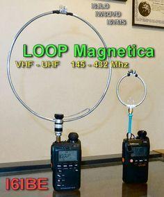 LOOP MAGNETICO VHF UHF 144 435 Mhz i6ibe ivo