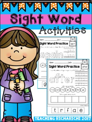 Sight Word Activities (First Grade) from teachingricharichi on TeachersNotebook.com (43 pages)