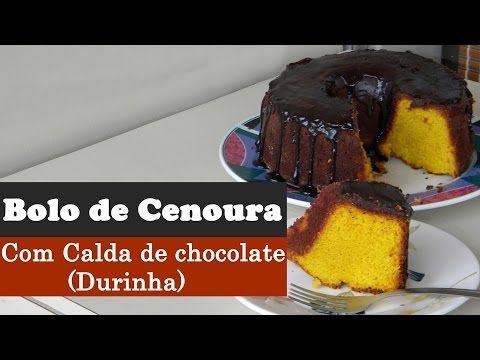 Bolo de Cenoura com Calda de Chocolate Durinha (Vídeo) | Aqui na Cozinha