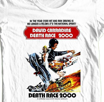 Death-Race-2000-T-shirt-retro-1970-039-s-classic-movie-110-cotton-graphic-tee