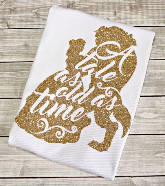 Tale as Old As Time, Belle Shirt, Princess Shirt, Disney Shirt, Glitter Princess Shirt, Choose from - baby, infant, toddler, girls, women