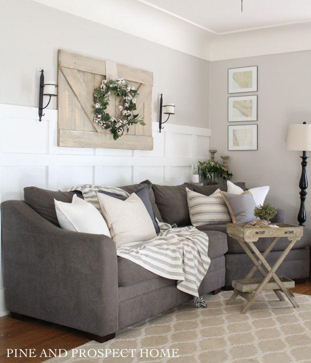 Fall Home Tour Blog Hop Grey Sofa Living Room Grey Sofa Decor Charcoal Sofa Living Room