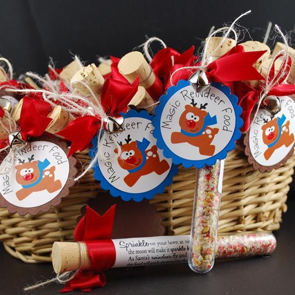 Reindeer food in a test tube - great gift for kids at Xmas..