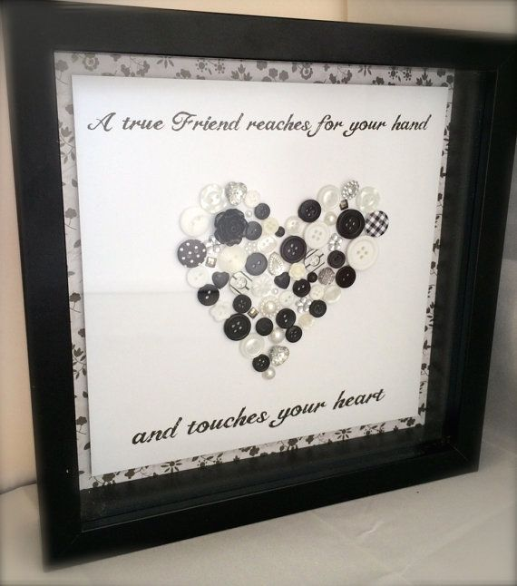 Handmade Box Framed Button Heart for a Special by TillyJaneCards