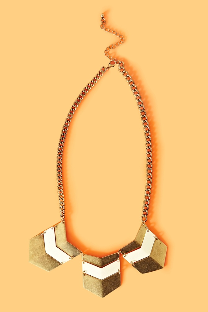 Nasty Gal, Nasty Gal, Nasty, Nasty, Nasty Gal-Chevron Stripe Necklace from the cutest website ever www.nastygal.com