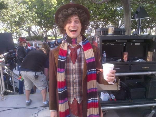 Matthew Gray Gubler (Reid of Criminal Minds) Dressed as Tom Baker?! That settles it, he's the perfect man.