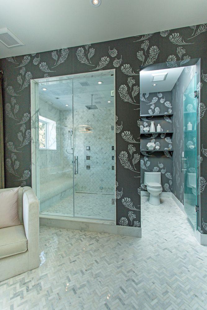 Bryan Baeumler's modern master shower.